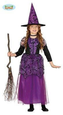 Lila Hexe Halloween Kostüm Kinder Mädchen ()