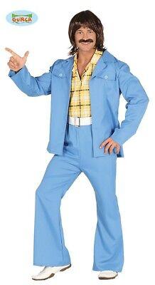70er Jahre Outfit Groovy Dancer Disco Kostüm für Herren Tänzer Jeansanzug - Herren Groovy Dancer Kostüm