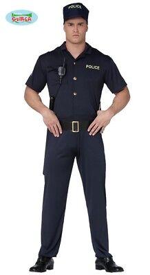 Polizeikostüm für Männer Karneval Cop Gesetzeshüter Polizei ()