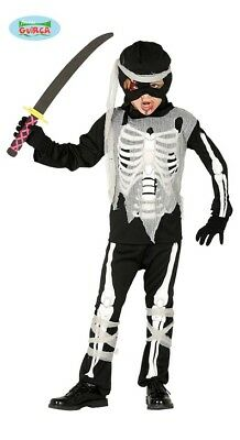 Guirca Ninja Skelett Kostüm für Kinder Halloween Anzug ()