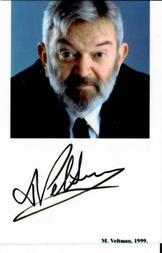 """Nobel Prize in Physics"" Martinus J. G. Veltman Signed 2.25X 3.5 Color Photo COA"