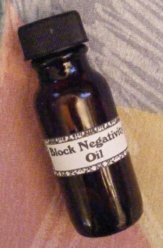 BLOCK NEGATIVITY  OIL- Voodoo, New Age, Santeria, Wiccan, Gothic