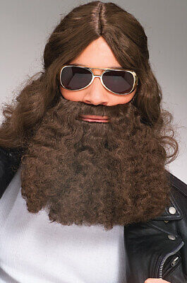 Beard Men's Wavy Costume Disguise Beard & Mustache With Elastic Strap