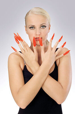 Sculpted Horror Fingernails Nails Claws Halloween Costume Accessory 2 COLORS - Halloween Claw Nails