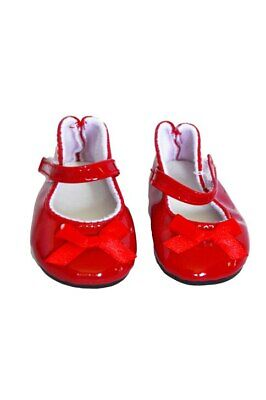 Red Patent Bow Mary Janes for American Girl Dolls 18 Inch Doll Clothes