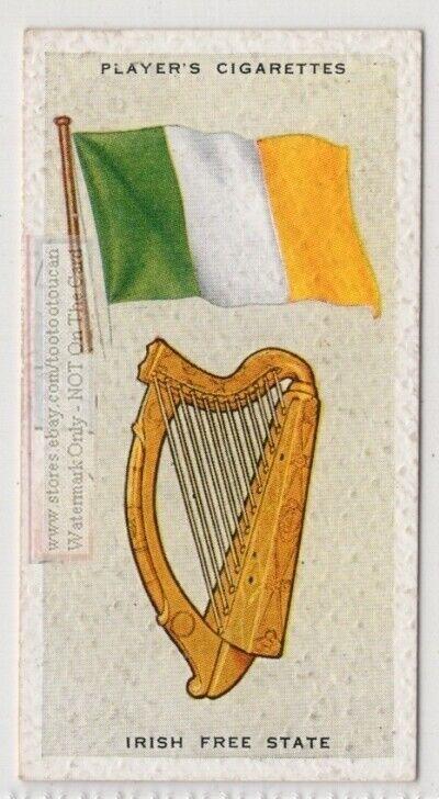 Irish Free State Flag Banner Emblem Dublin 1930s Ad Trade Card