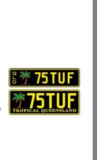 Personalised number plates 75TUF