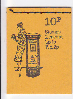 10P BOOKLET JUNE 1973 BRITISH PILLAR BOX SERIES No 8 SG DN60