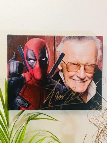 Stan Lee Facsimile Autograph 11x14 Canvas Print Wall Art