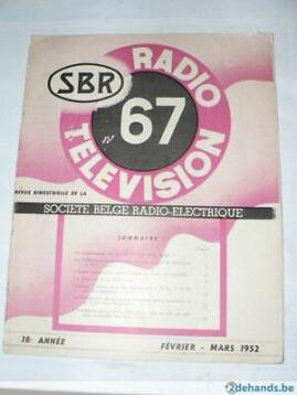 magazine nr67 SBR TV & radio 1952