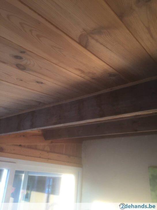 houten plafond en muren   2ememain.be