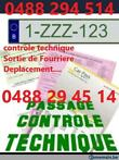 location plaque Z 0488 29 45 14 controle technique/fourrier