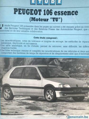 Revue Technique Automobile Peugeot 106 Essence Tous Types