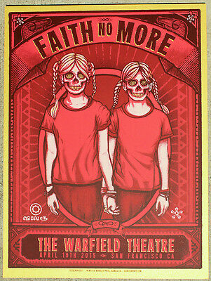 FAITH NO MORE San Francisco 2015 poster by Zoltron GOLD VARIANT