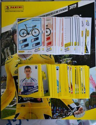 PANINI images coureurs cyclistes TOUR DE FRANCE 2019 set complet stickers