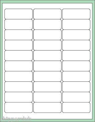 30 X 1000 Blank Sheets Self Adhesive Mailing Return Address Labels 2-58 X 1