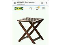 2 IKEA Äpplarö outdoor wooden stools