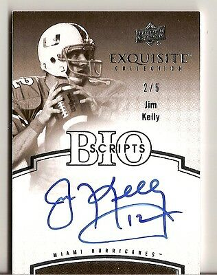 2010 Exquisite Jim Kelly Auto  5 Autograph Bio Script