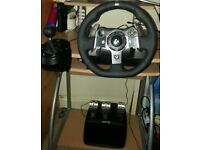 Logitech wheel shifter and pedals XBOX ONE