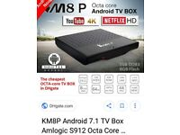 Km8p android 7.1 tv box