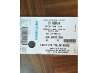 ED SHER TICKETS