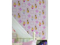 4 rolls of Disney royal princess frames wallpaper.