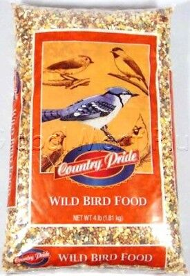 Wild Bird Food Seed Feed White Miller Black Oil Sunflower 4lb Bag Country (Bird Food 4lb Bag)