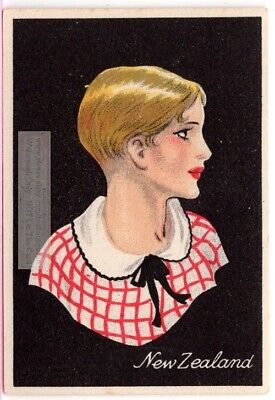 New Zealand Young Woman Pacific Traditional  Dress Clothing  1920s Trade Card for sale  Shipping to Ireland