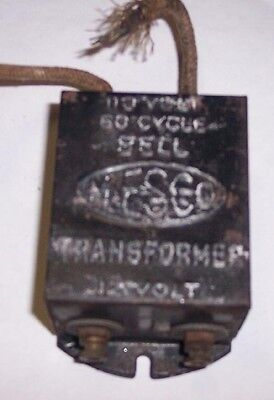 12v Transformer By Mesco 110 Volt 60 Cycle Bell