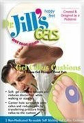 Dr. Jills Gel Callus Cushions (Self-Sticking and Re-Usable) - Dr Jills Gel