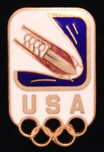 Bobsled-Olympic-Pin-Badge-USA-Team-1994-Lillehammer-Winter-Games
