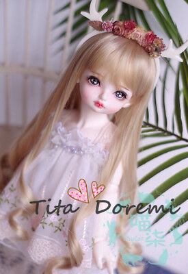 Wig Bjd Doll 1/3 8-9 Dal Pullip SD Blythe Accessory Toy Long Hair Dollfie Brown