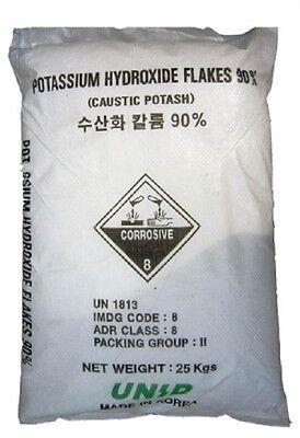 Potassium Hydroxide (KOH) Commercial Grade - 25 Kg Sack