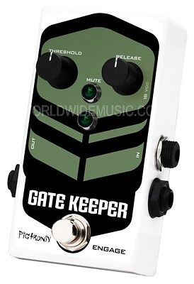Pigtronix Gatekeeper - High Speed Noise Gate Guitar Pedal / Stomp Box