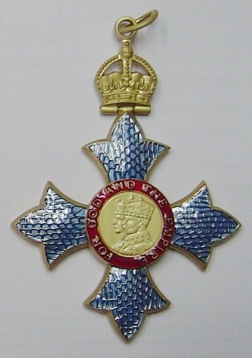 Britain UK Royal Medal Badge OBE Empire Cross Order Knight Service Merit Award K