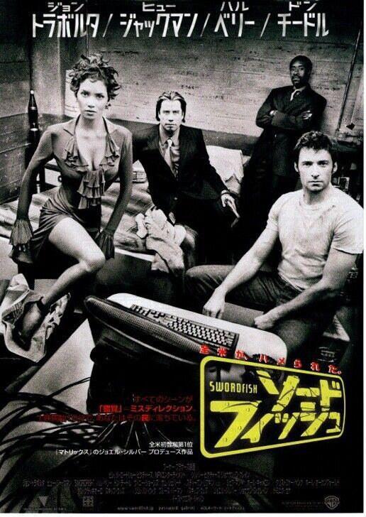 Swordfish Japan Movie Flyer 2001 John Travolta Dominic Sena Hugh Jackman