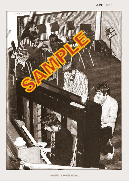 THE BEATLES photo set OF TWO 5x7 1967 SGT PEPPERS RECORDING SESSIONS