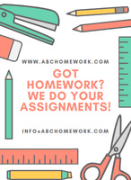 Homework / assignments done by pros!
