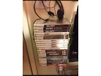 Xbox 360 games + Xbox 360 microphone