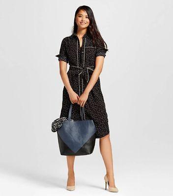 NWT Who What Wear Black Brown Polka Pajama Dress Ebony Renaissance Size M