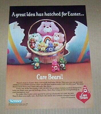 1984 print ad page - Care Bears Easter vintage Kenner magazine advertising