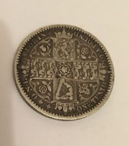 1849 GODLESS FLORIN - VICTORIA BRITISH SILVER COIN