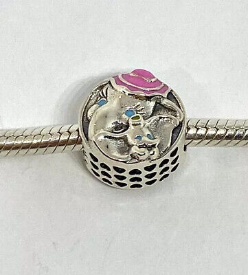 Authentic Pandora Silver Charm DISNEY DUMBO AND MRS JUMBO #797850ENMX+BOX