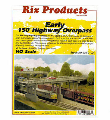 Rix Products   Early 150 Highway Overpass With Piers Kit Ho Scale 628 0103