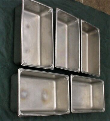 Lot 5 Vollrath Full Size 6 Deep Stainless Steel Steam Table Catering Pans