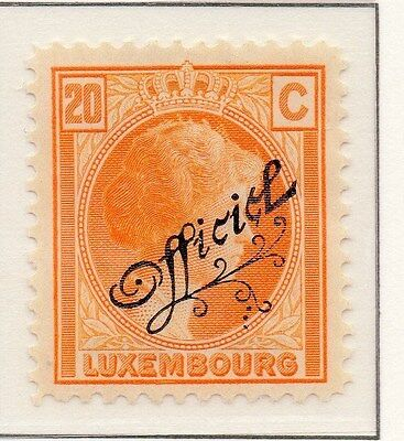 Luxembourg 1926-27 Early Issue Fine Mint Hinged 20c. Optd Official 150996