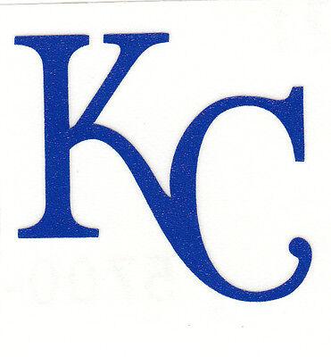 REFLECTIVE Kansas City Royals KC 2 inch fire helmet decal sticker RTIC - Kansas City Royals Stickers