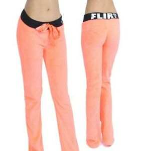Women Lady Teen Plush Fleece Pajama Lounge Sleepwear Bottom Pants Warm Soft S M