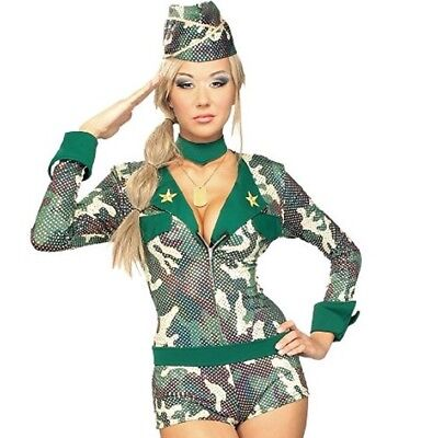 Secret Wishes Costume Army Girl Women's Costume Small S - Female Army Halloween Costumes