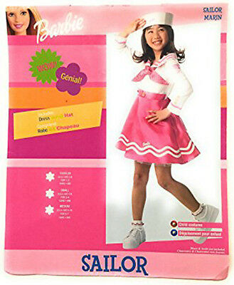 BARBIE PINK SAILOR MARINE CHILD HALLOWEEN COSTUME GIRL'S SIZE SMALL 4-6